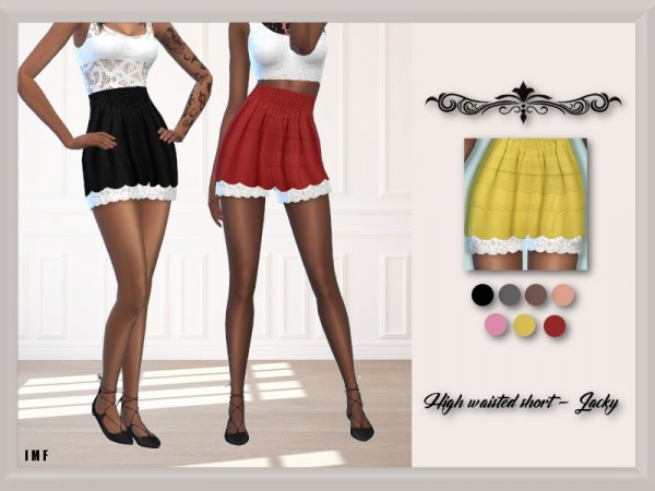 The Sims Resource: High waisted short   Jacky by IzzieMcFire