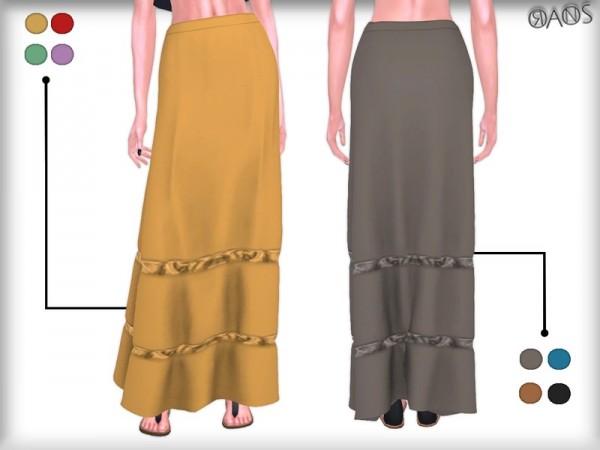 The Sims Resource: Raina Chiffon Maxi Skirt by OranosTR