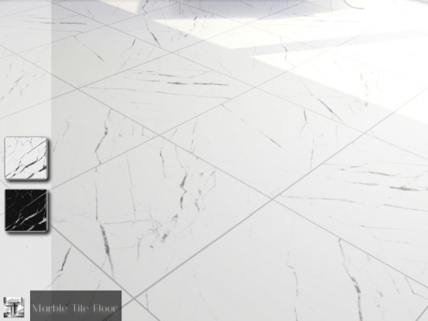 The Sims Resource Marble Tile Floor Set By Torque Sims 4 Downloads