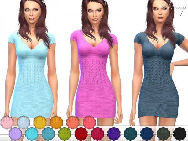 The Sims Resource: Knit Mini Dress by ekinege