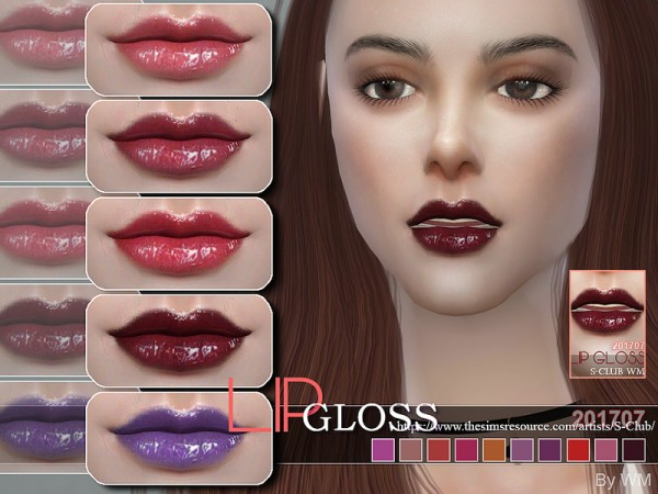 The Sims Resource: Lipgloss 201707 by S Club