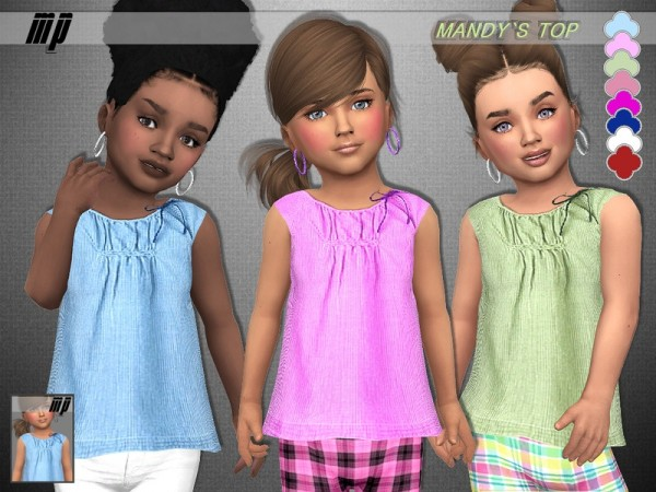 The Sims Resource: Toddler Mandys Top by MartyP