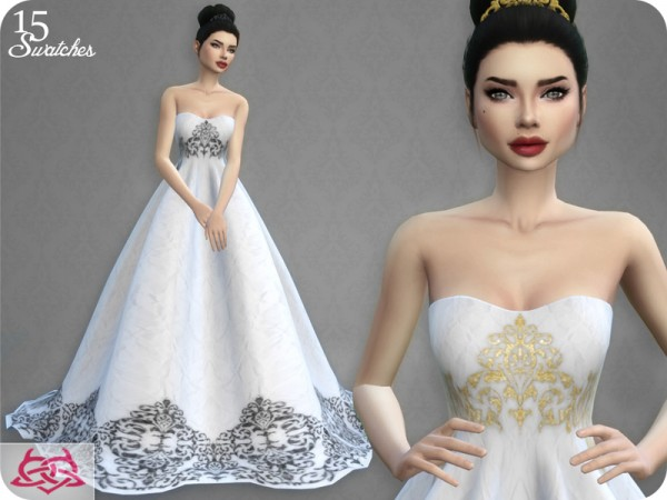 The Sims Resource: Wedding Dress 7 recolor 3 by Colores Urbanos