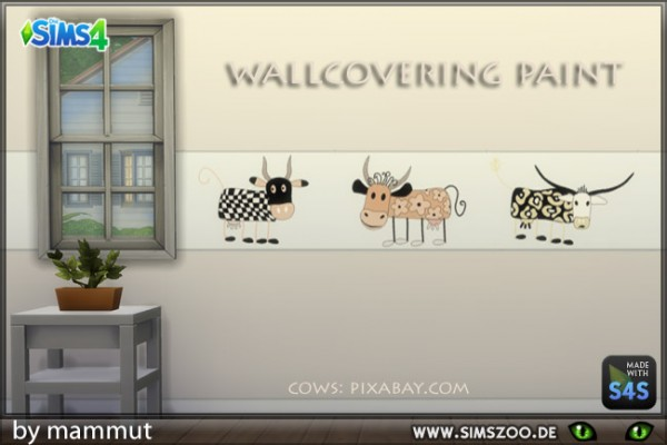 Blackys Sims 4 Zoo: Cow paints by mammut