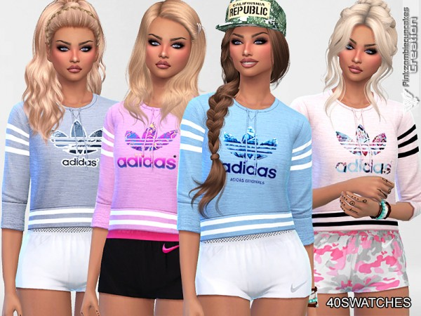 The Sims Resource: Athletic Sweatshirts Collection by Pinkzombiecupcakes