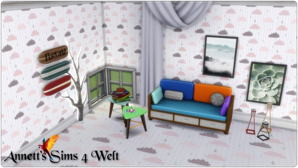 Annett`s Sims 4 Welt: Wallpapers and Carpets Clouds
