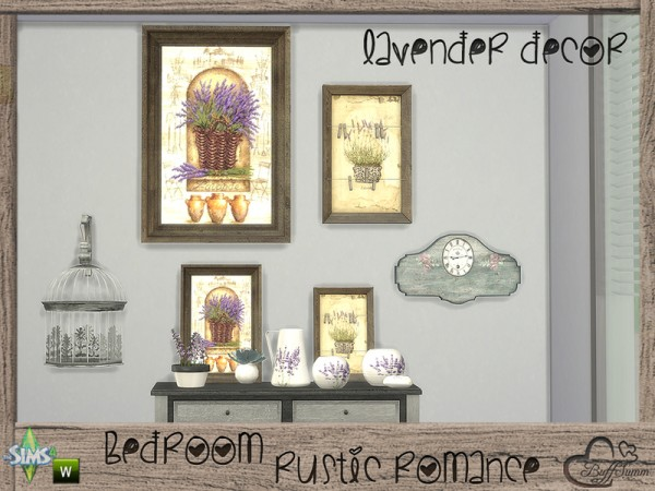 The Sims Resource: Rustic Romance Lavender Decor Set by BuffSumm
