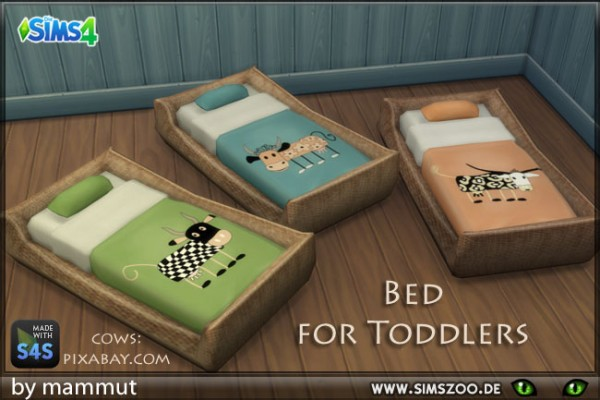 Blackys Sims 4 Zoo: Cow beddings 1 for toddlers