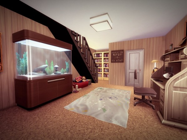 The Sims Resource: Split Level House   NO CC! by melcastro91