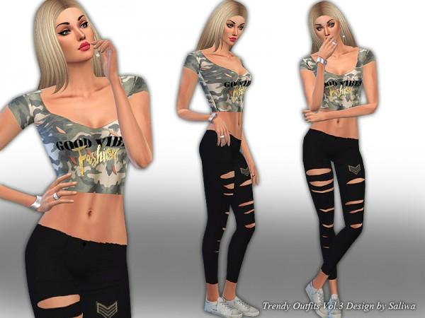 The Sims Resource: Trendy Outfits Vol 3 by Saliwa