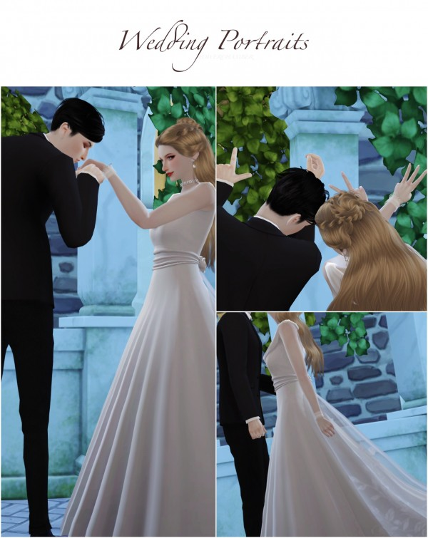 Flower Chamber Wedding Project Poses Sets Sims 4 Downloads
