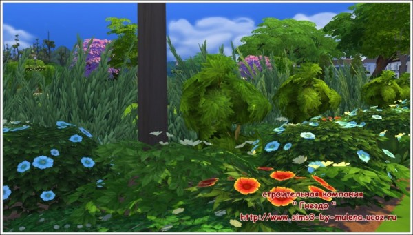 Sims 3 by Mulena: Our courtyard  2