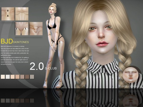The Sims Resource: BJD2.0 skin by S Club