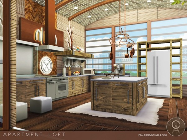 The Sims Resource: Apartment Loft by Pralinesims