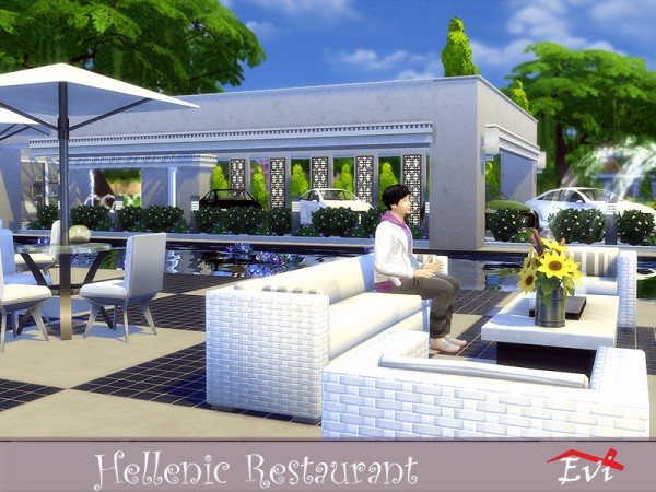 The Sims Resource: Hellenic Restaurant by evi