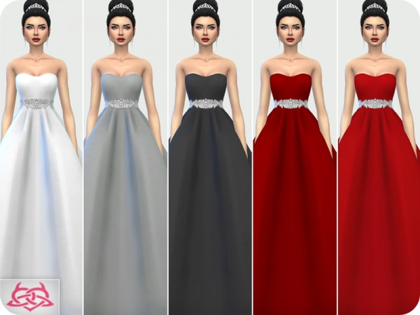 The Sims Resource: Wedding Dress 7 recolor 2 by Colores Urbanos