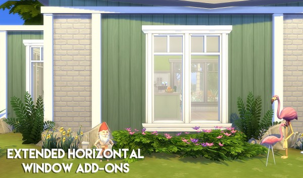 The Plumbob Architect: Arenthood Extended Horizontal Window   Add Ons