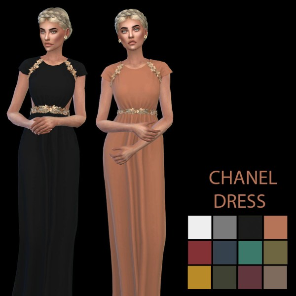 Leo 4 Sims: Lily dress recolor