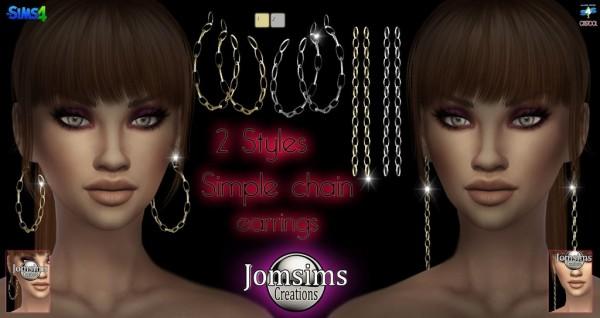 Jom Sims Creations: Simple chaine earrings