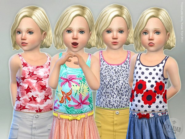 The Sims Resource: Toddler Girl Tank Top P01 by lillka