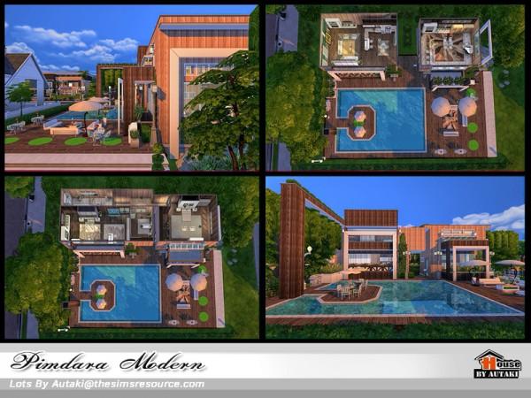 The Sims Resource: Pimdara Modern house by autaki