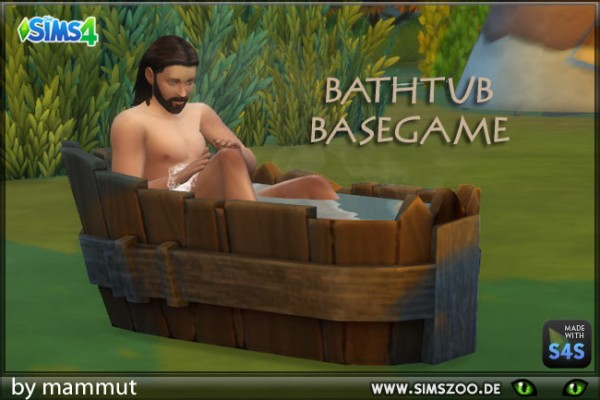 Blackys Sims 4 Zoo: Bath tub by mammut