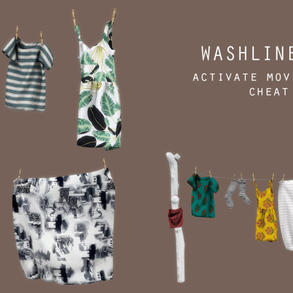 Leo 4 Sims: Washline set