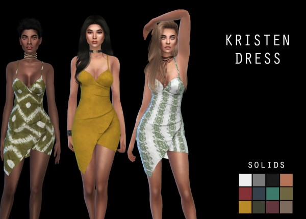 Leo 4 Sims: Kristen dress recolor