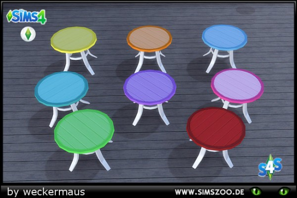 Blackys Sims 4 Zoo: Like Ice In The Sunshine table by weckermaus