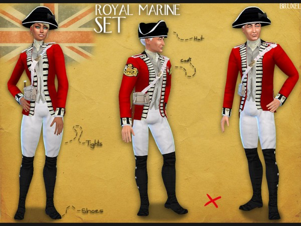 The Sims Resource: Royal Marine Set uniform by Bruxel