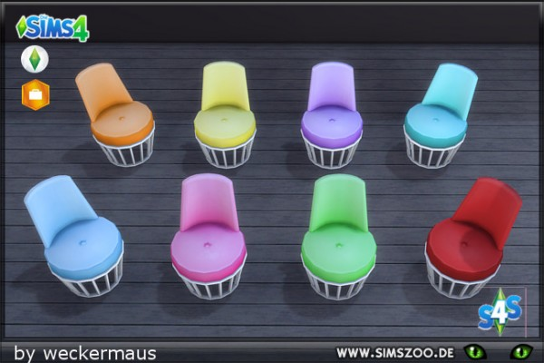 Blackys Sims 4 Zoo: Like Ice In The Sunshine armchair by weckermaus