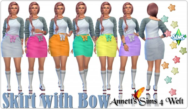 Annett`s Sims 4 Welt: Skirt with Bow