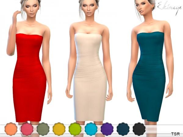 The Sims Resource: Strapless Midi Tube Dress by ekinege