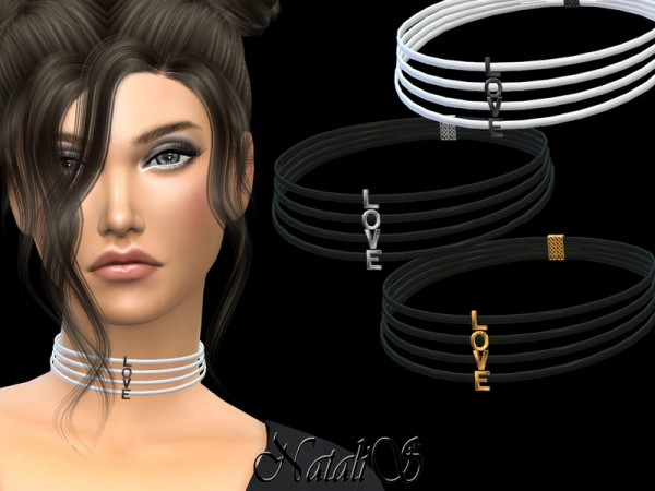 The Sims Resource: LOVE choker by NataliS