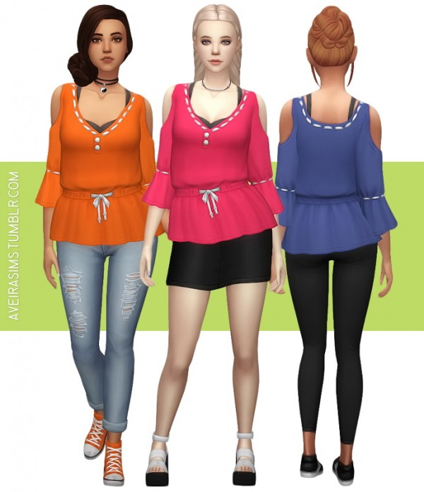 Aveira Sims 4: Artsy Shirt Recolor
