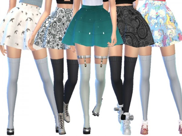 The Sims Resource: Pastel Gothic Skirts Pack Three by Wicked Kittie