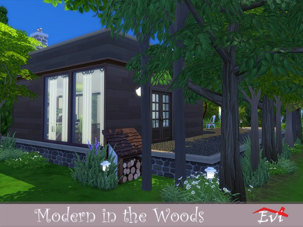The Sims Resource: Modern in the Woods house by evi