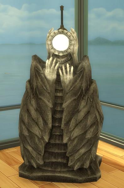 Simsworkshop: Haggy Skyrim Dawn Breaker Sword and Pedestal by BigUglyHag
