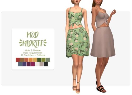 Nolan Sims: Mod  Midriff Dress