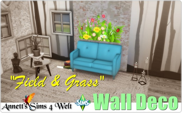 Annett`s Sims 4 Welt: Wall Deco Field and  Grass