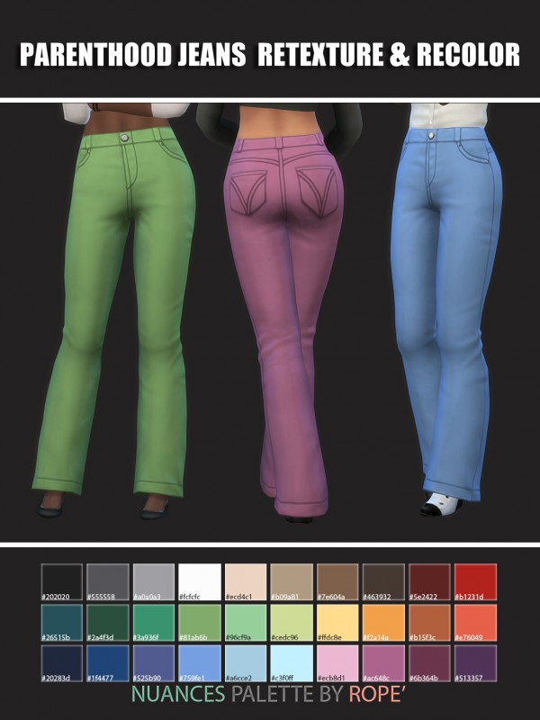 Simsworkshop: Parenthood Jeans recolored by maimouth