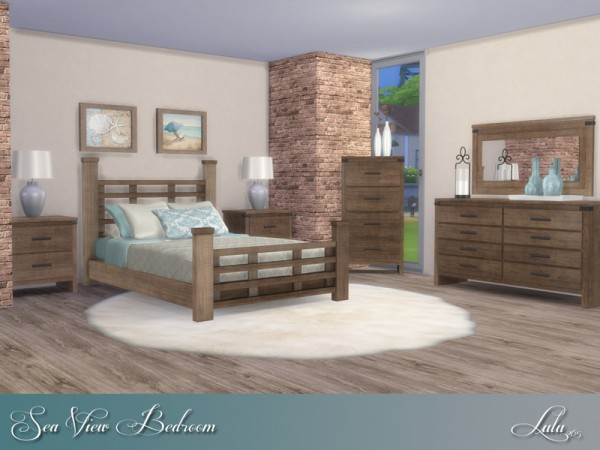 The Sims Resource: Sea View Bedroom by Lulu265