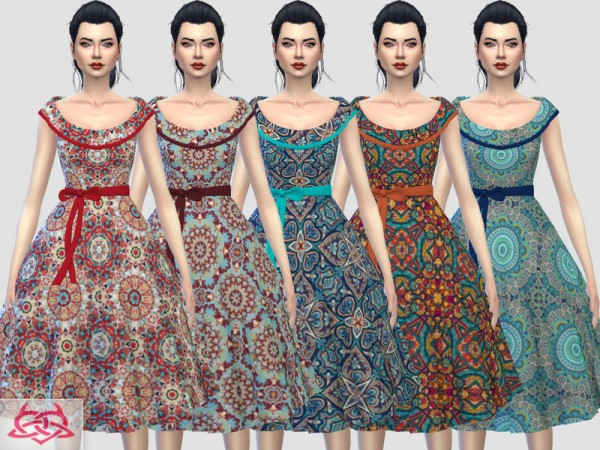 The Sims Resource: Romi dress recolor 4 by Colores Urbanos