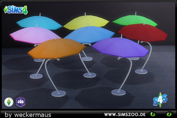 Blackys Sims 4 Zoo: Like Ice In The Sunshine Parasol by weckermaus