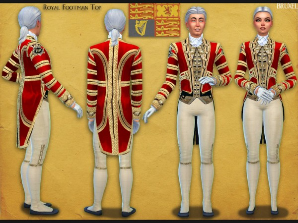 The Sims Resource: Royal Footman Top by Bruxel