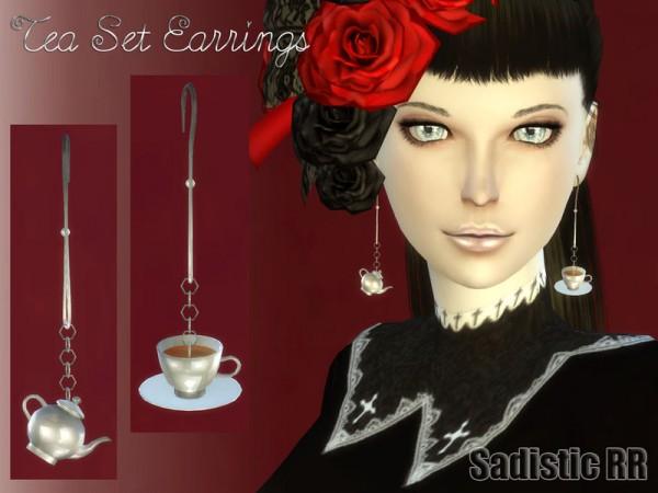 The Sims Resource: Tea Set Earrings by Sadistic RR