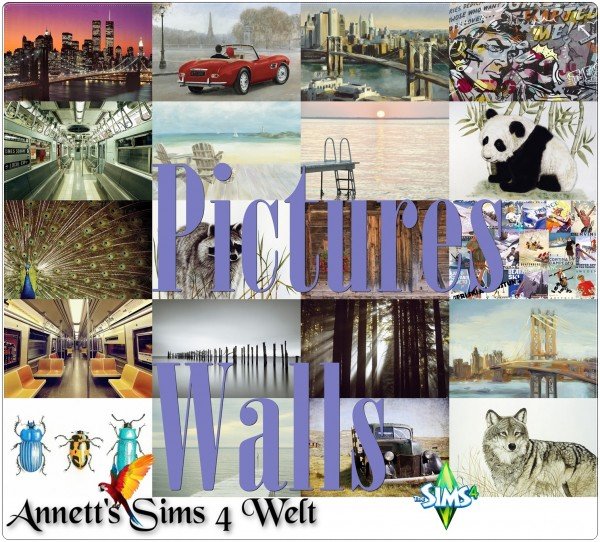 Annett`s Sims 4 Welt: Pictures Walls