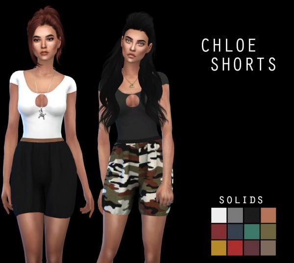 Leo 4 Sims: Chloe shorts recolor