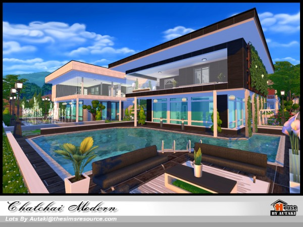 The Sims Resource: Chatchai Modern  house by Autaki