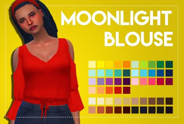 Simsworkshop: Moonlight Blouse by Weepingsimmer